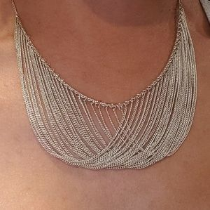 Sterling silver 925 multi chain necklace